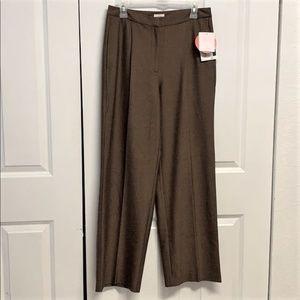 Liz Claiborne Kylie Dress Pants Size 10 Brown New